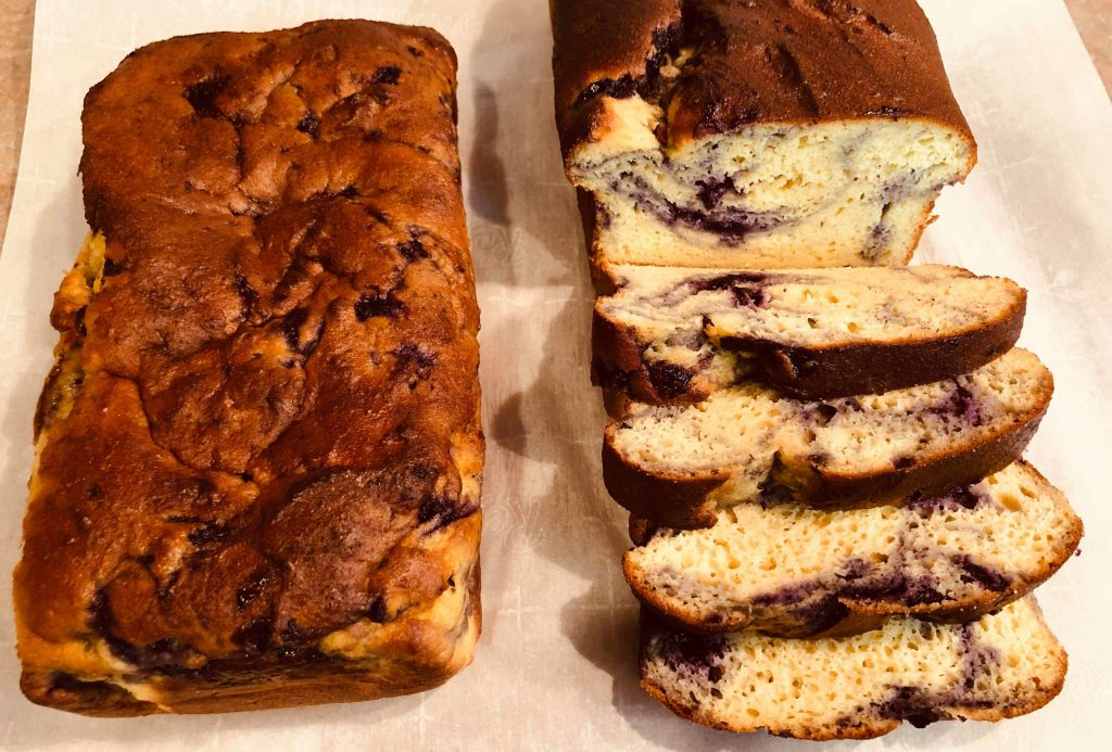 Keto Blueberry Pound Cake