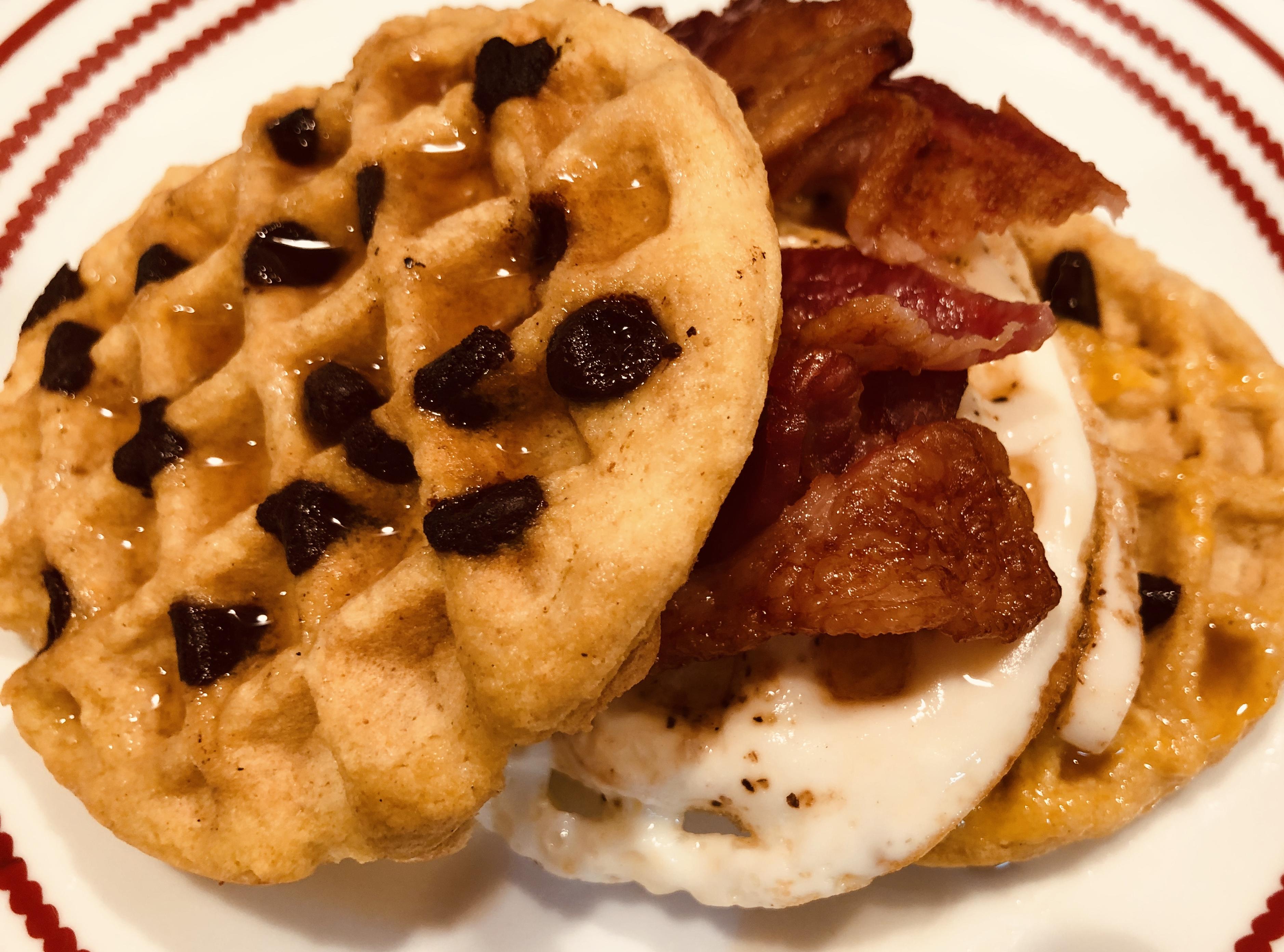 Keto Mini Sweet Waffle Bacon Burger